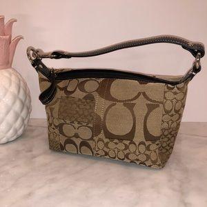 Coach signature canvas patchwork mini bag excelent